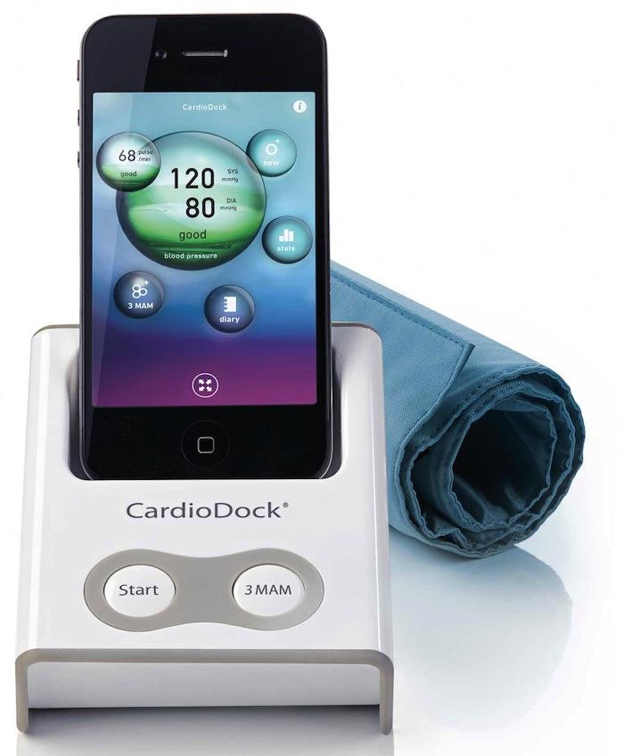 CardioDock NEU: Blutdruck  und Blutzuckermessung am Handy