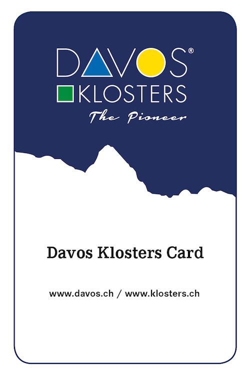 DavosKlostersCard print Individuelle Ferien in Davos Klosters
