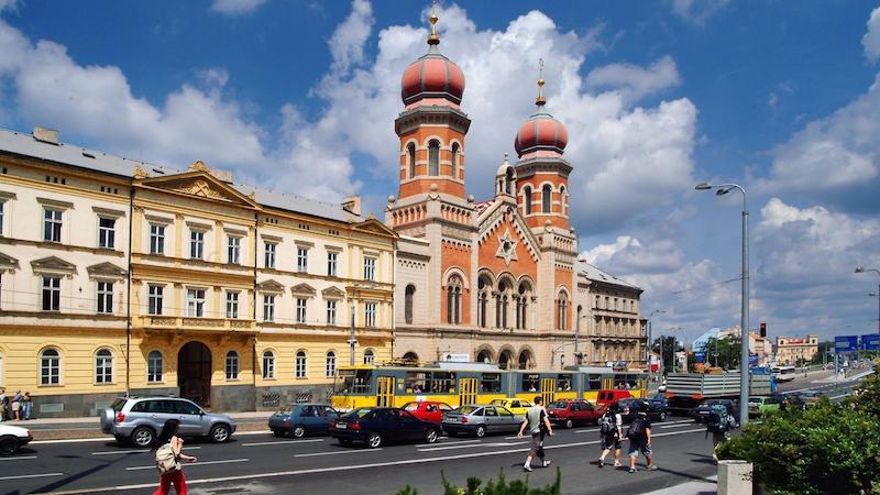 plzen   velka synagoga  Pilsen ist 2015 Europäische Kulturhauptstadt