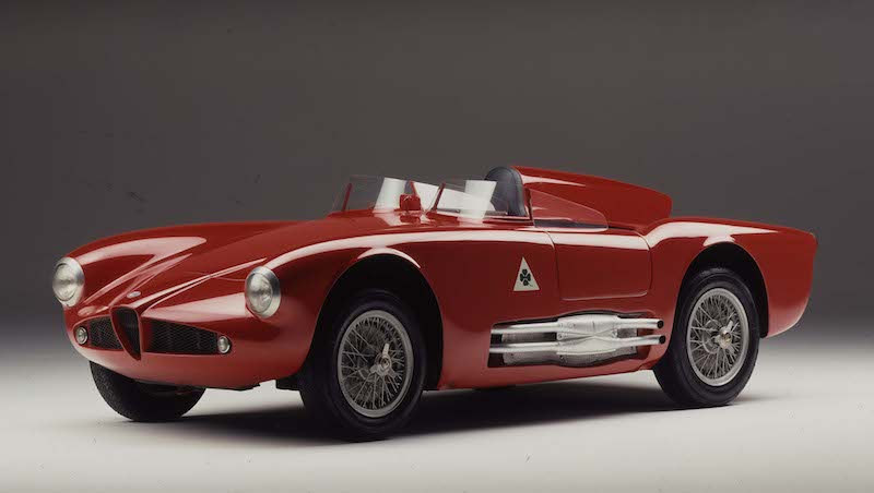"750 Competizione 1955 Alfa Romeo mit 5 Motorsport Legenden beim Goodwood ""Festival of Speed"" 2014"