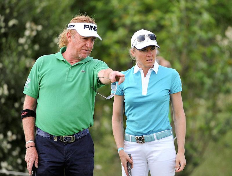 GEPA full 6373 GEPA 04061487001 Der 50 jährige Golfer Miguel Angel Jiménez hat sein Herz an eine Österreicherin verloren!
