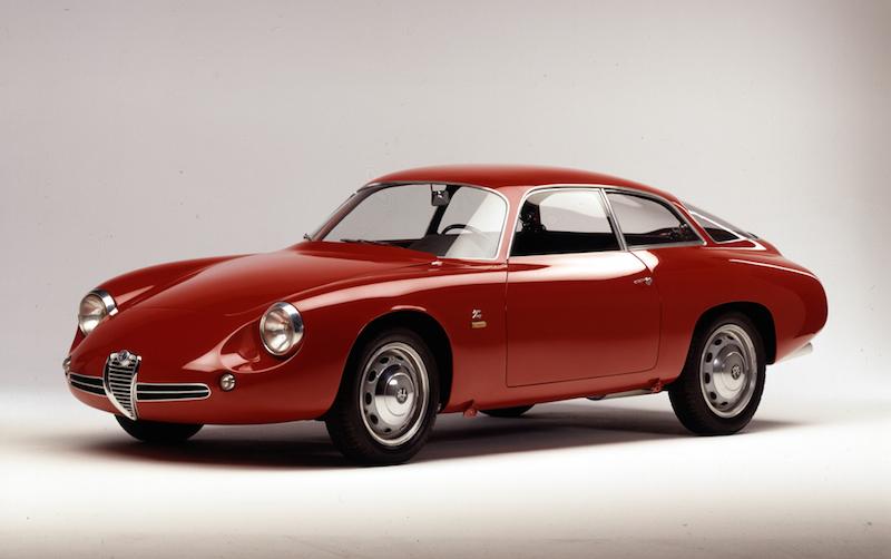 "Giulietta SZ 1960 Alfa Romeo mit 5 Motorsport Legenden beim Goodwood ""Festival of Speed"" 2014"