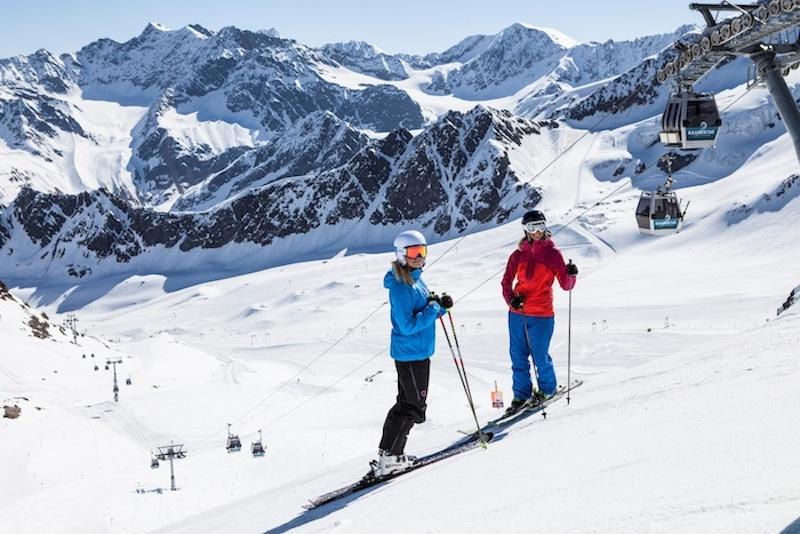 kaunertaler gletscher 2013 skigebiet skifahrer Am Kaunertaler Gletscher bekommen Skifahrer Lust auf mehr