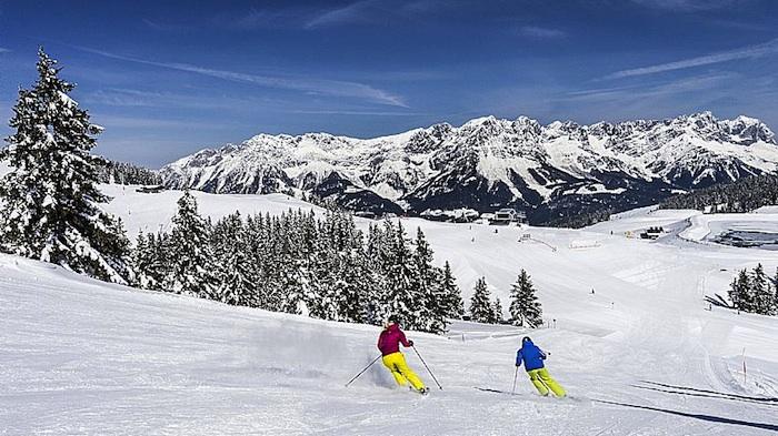 000786 Skifahren Daniel Reiter Peter von Felbert Gar nicht wild am Wilden Kaiser