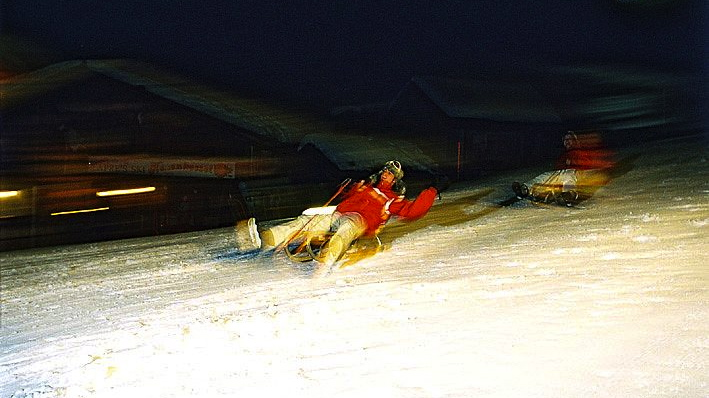 WK 186 Nachtrodeln TVB Wilder Kaiser 1 Gar nicht wild am Wilden Kaiser