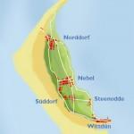 inselkarte village names 150x150 Insel Amrum – kleine Insel, große Freiheit