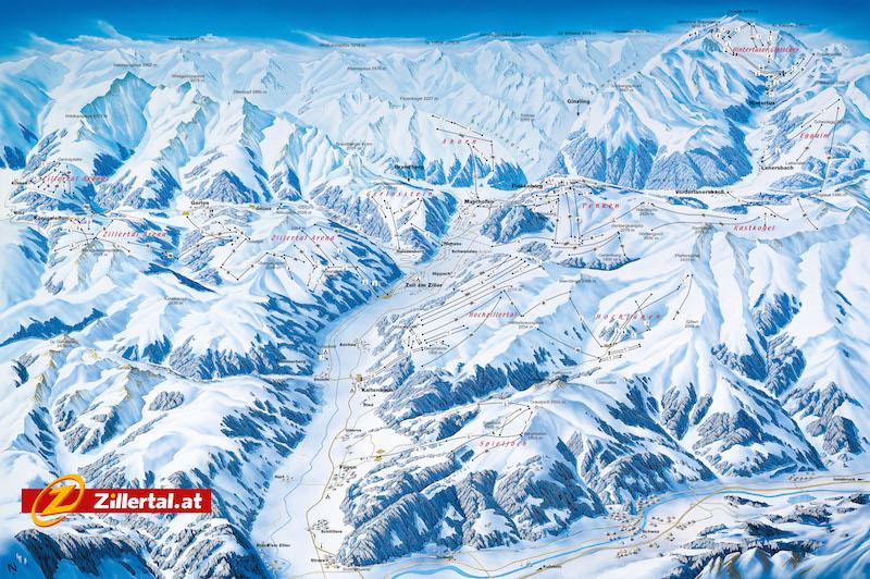 Panorama15 16 Das Zillertal – Ski Berge zum Verlieben