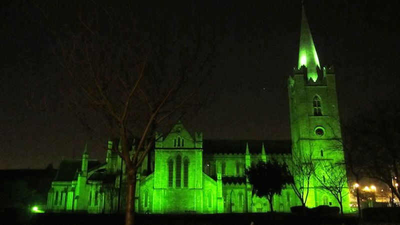 Greening of St. Patrick´s Cathedral1 St. Patrick´s Day, 2016