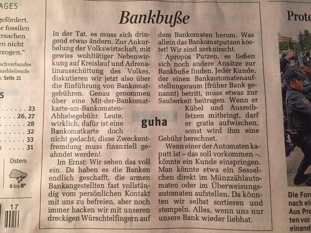 IMG 1630 Nein zu Bankomatgebühr