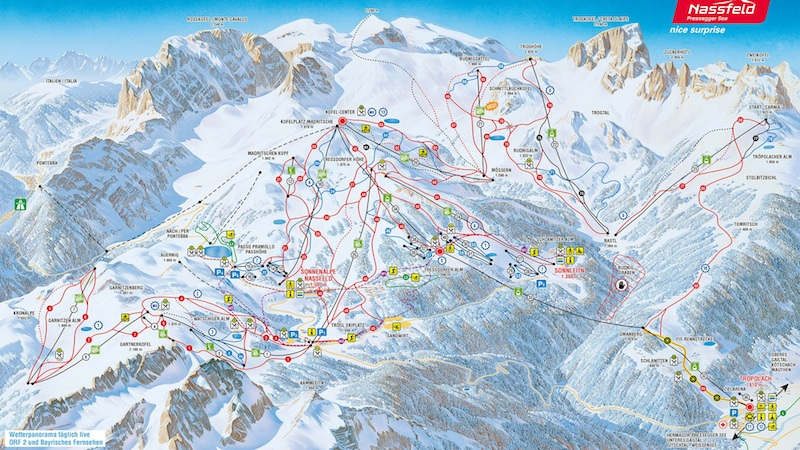 nassfeld plan Skigebiet Nassfeld bietet viele Überraschungen