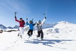 Ältere Menschen und Skirennen?