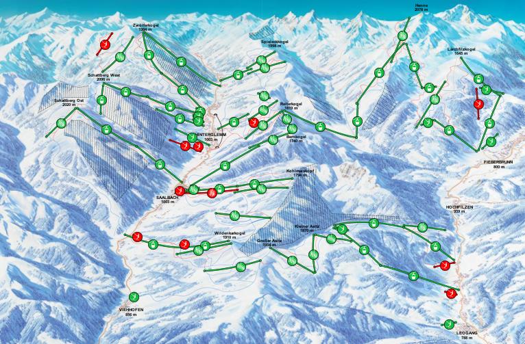 saalb karte 21 Das lässige Skigebiet in den Kitzbüheler Alpen
