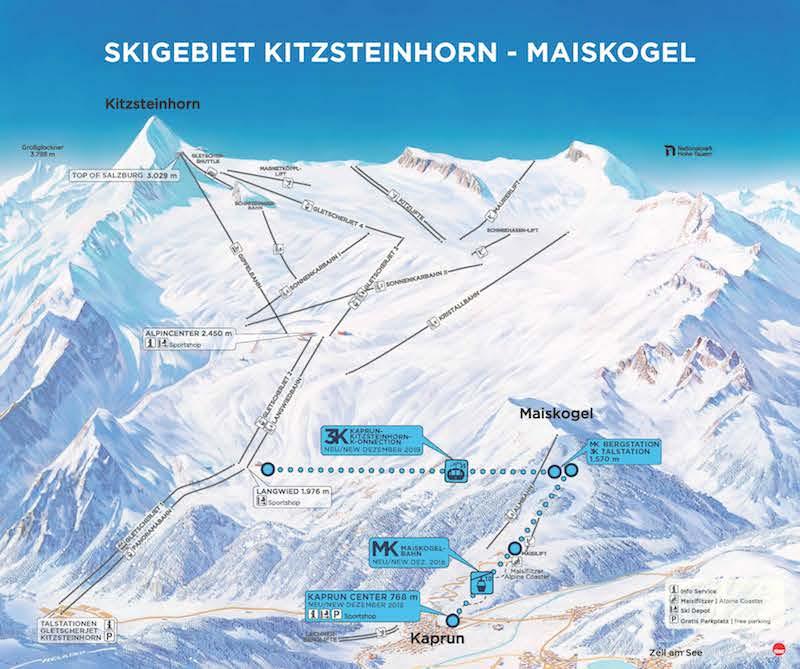 GBK Uebersicht Skigebiet Kitzsteinhorn Maiskogel Das Kitzsteinhorn – Glückseligkeit auf 3.000 Metern