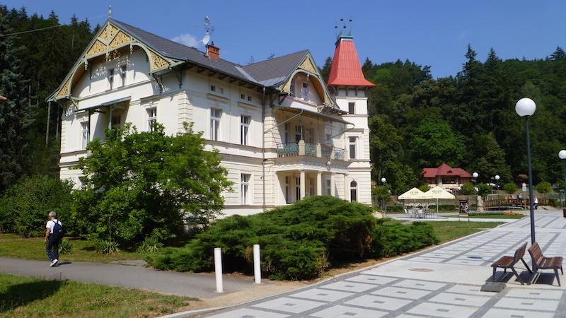 P1050420 Das  Heilbad Luhačovice in Tschechien