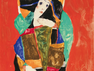 EGON SCHIELE DAMENBILDNIS (WALLY NEUZIL), 1912 PORTRAIT OF A LADY (WALLY NEUZIL), 1912 Gouache und Bleistift auf Papier | gouache and pencil on paper 24,8 × 24,8 cm Courtesy Heidi Horten Collection