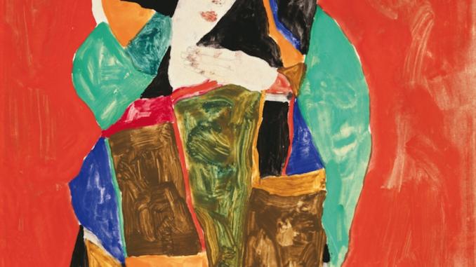 EGON SCHIELE DAMENBILDNIS (WALLY NEUZIL), 1912 PORTRAIT OF A LADY (WALLY NEUZIL), 1912 Gouache und Bleistift auf Papier | gouache and pencil on paper 24,8 × 24,8 cm Courtesy Heidi Horten Collection