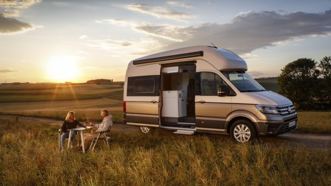 Grand California Sonnenuntergang Foto. VW