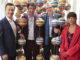 v.l.n.r.: Gernot Blümel (Bundesminister für EU, Kunst, Kultur und Medien), Stefan Sagmeister (Grafikdesigner), Christoph Thun-Hohenstein (Generaldirektor des MAK) und Kathrin Pokorny-Nagel (Kuratorin). Foto: Peter Hautzinger
