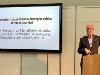 Herausgeber Friedrich Graf auf der Wissensbühne