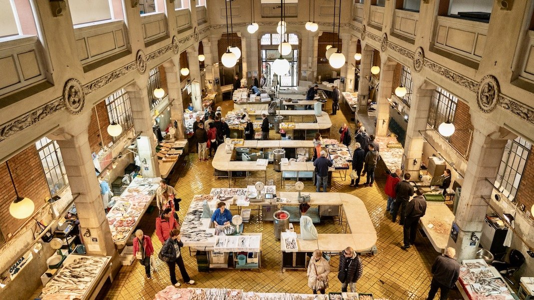 RIJEKA FISH MARKET - ALTHOUGH BEAUTIFUL FROM THE OUTSIDE, THE INTERIOR HIDES A REAL GEM - A GALLERY THROUGH WHICH LIGHT REACHES_BORKO VUKOSAV